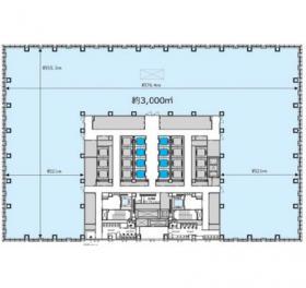 丸の内二重橋(仮)丸の内3-2計画:基準階図面