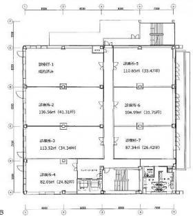 HAMA-SHIPビル:基準階図面