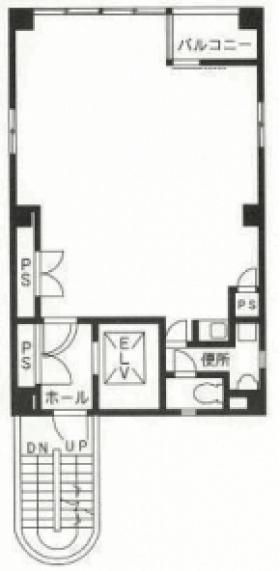新富町営和ビル:基準階図面