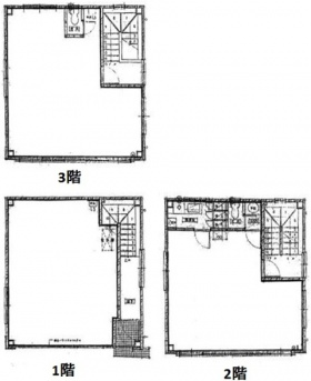 建部ビル:基準階図面
