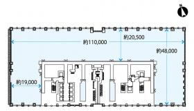 大手町パークビルディング:基準階図面