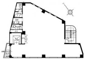 南麻布セントレビル:基準階図面