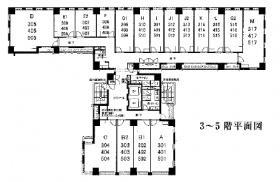 アイオス銀座ビル:基準階図面