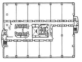 ユーティリティセンタービル:基準階図面