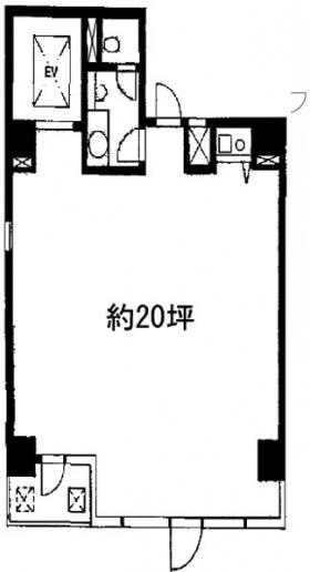 新富太陽ビル:基準階図面