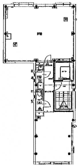 ハタノビル:基準階図面