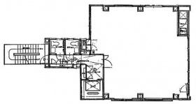 黒江屋鍛冶町ビルディング:基準階図面