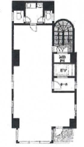 K高輪ビル:基準階図面
