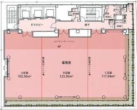 日本橋木村ビル:基準階図面