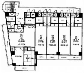 江戸川橋杉原ビル:基準階図面