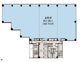 JPR千駄ヶ谷ビル:基準階図面