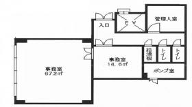 パークサイド多摩川ビル:基準階図面