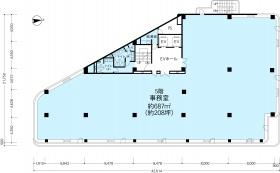 KDX高田馬場ビル:基準階図面
