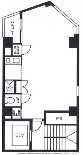汐留MKタワー:基準階図面