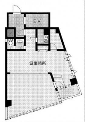 DIABOX2ビル:基準階図面
