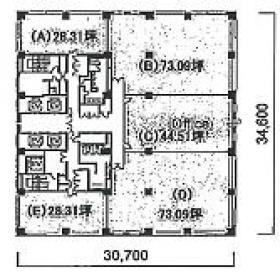 KDX府中ビル:基準階図面