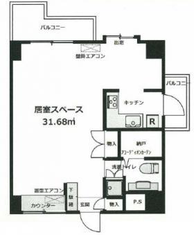 グランドメゾン飯田橋ビル:基準階図面
