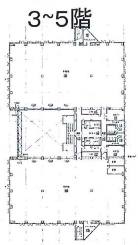 南町田5丁目ビル:基準階図面