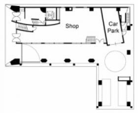 国立東加賀屋ビル:基準階図面
