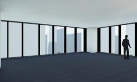 河北新報ビルの内装