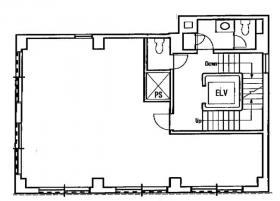 築地ニイクラビル:基準階図面