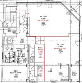 仮称)新松戸センタービル:基準階図面