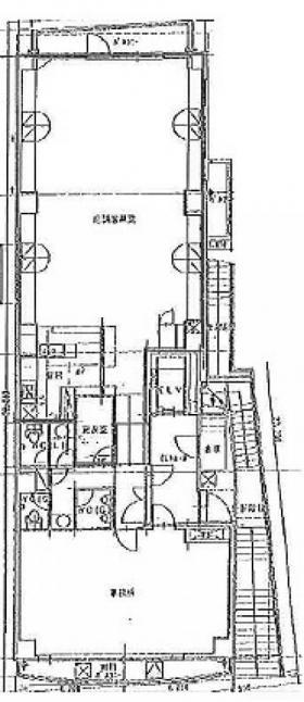 川萬ビル:基準階図面