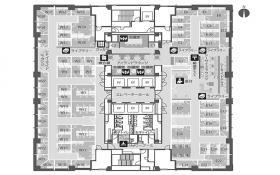 レンタルオフィス品川(太陽生命品川):基準階図面