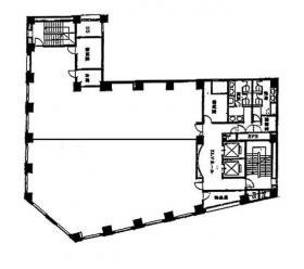 仮)新宿三丁目ビル:基準階図面