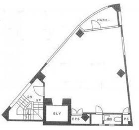 西五反田サインタワー:基準階図面