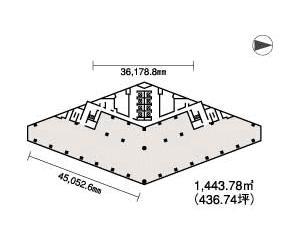 西新宿プライムスクエア(西新宿木村屋)ビル 6F 11.94坪(39.47m<sup>2</sup>) 図面