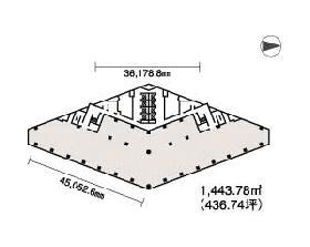 西新宿プライムスクエア(西新宿木村屋)ビル:基準階図面