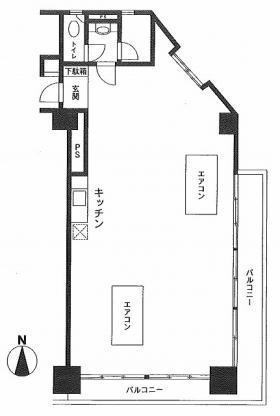 シャトレ市ヶ谷:基準階図面