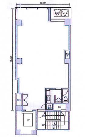 ハビウル銀座Ⅱ:基準階図面