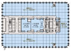 新宿センタービル:基準階図面