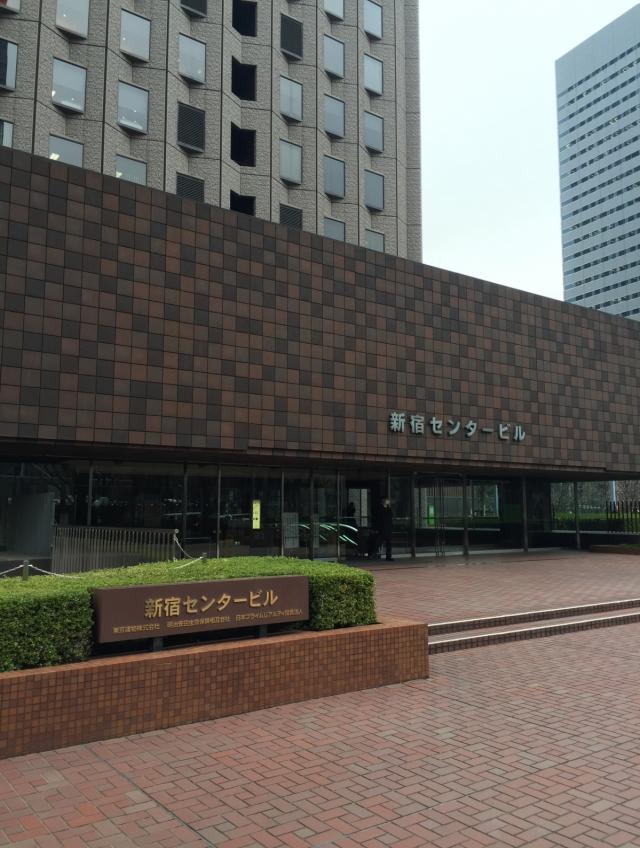 新宿センタービル 4F 93.39坪(308.72m<sup>2</sup>)のエントランス