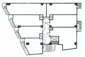 新宿ダイカンプラザ756:基準階図面