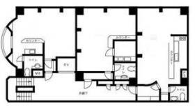 加瀬ビル136:基準階図面