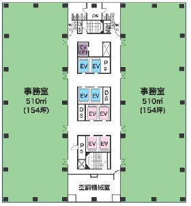 新宿グリーンタワー:基準階図面