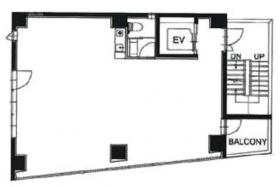 モダンフォルム西麻布ビルパートⅡ:基準階図面