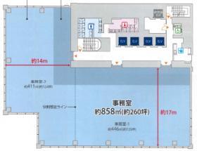 新虎通りCORE:基準階図面