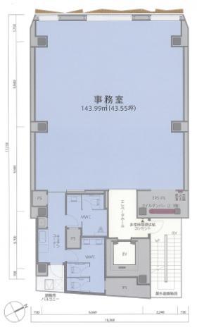 AD-O渋谷道玄坂ビル:基準階図面