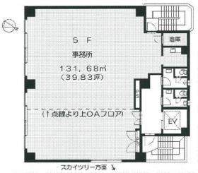 ニューリバー51ビル:基準階図面