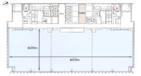 太陽生命日本橋ビル(日本橋二丁目再開発A街区):基準階図面