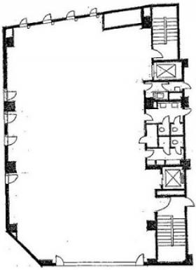 第1富澤ビル:基準階図面