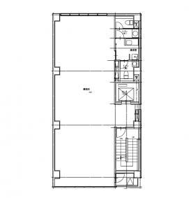 仮称)北参道計画ビル:基準階図面