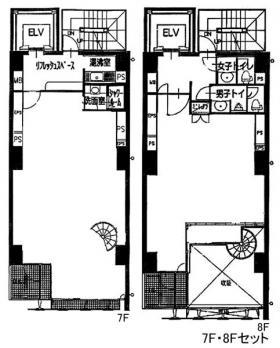 道玄坂今井ビル:基準階図面