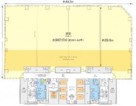 仮)日鐵日本橋ビル建替計画:基準階図面