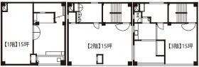 内山印刷ビル:基準階図面