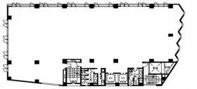 早稲田駅前ビル:基準階図面